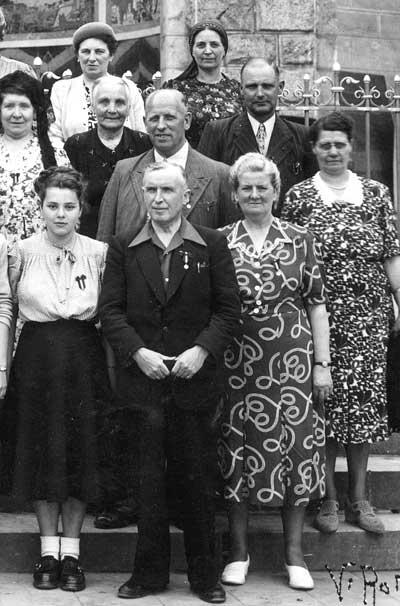 Amelie Jochmans, Louis Vanautgaerden en Hortense Cristens in Lourdes (1950)