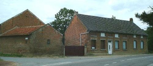 La ferme et la maison de la forge au coin de la rue de la Forge et la rue Haute à Bierbeek