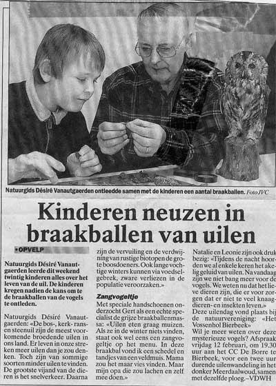 Gert en D�sir� in de krant
